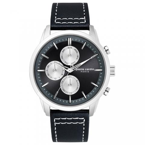 ساعت مچی عقربه ای مردانه کلاسیک برند پیرکاردین مدل PC902741F03