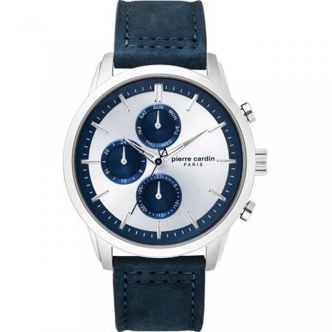 ساعت مچی عقربه ای مردانه کلاسیک برند پیرکاردین مدل PC902741F04