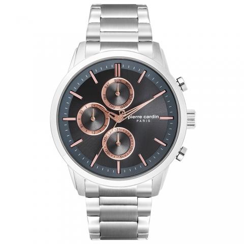 ساعت مچی عقربه ای مردانه کلاسیک برند پیرکاردین مدل PC902741F07