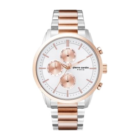 ساعت مچی عقربه ای مردانه کلاسیک برند پیرکاردین مدل PC902741F09