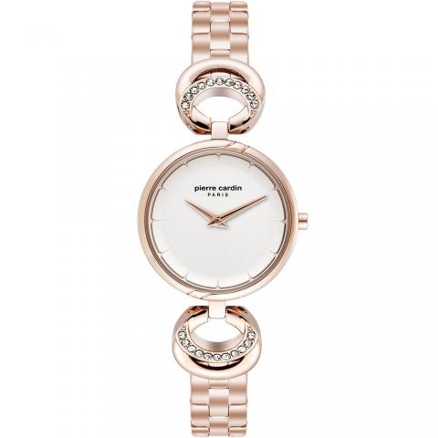 ساعت مچی عقربه ای زنانه کلاسیک برند پیرکاردین مدل PC902752F07
