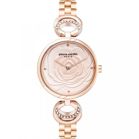 ساعت مچی عقربه ای زنانه کلاسیک برند پیرکاردین مدل PC902762F07