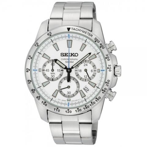 ساعت مچی عقربه ای مردانه اسپرت برند سیکو مدل SSB025P1
