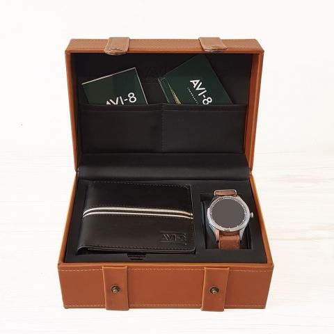 جعبه ساعت ای وی ایت مدل Avi-8 Big Box
