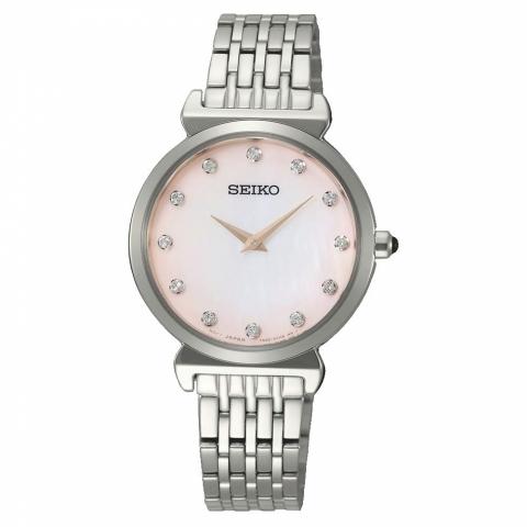 ساعت مچی عقربه ای زنانه کلاسیک برند سیکو مدل SFQ803P1