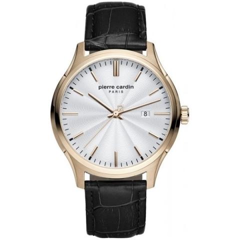 ساعت مچی عقربه ای مردانه کلاسیک برند پیرکاردین مدل PC902421F04