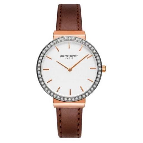 ساعت مچی عقربه ای زنانه کلاسیک برند پیرکاردین مدل PC902352F03