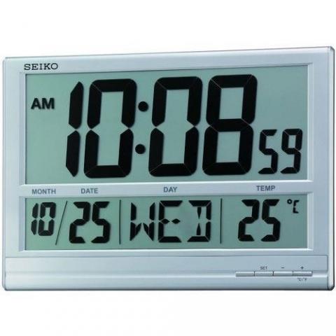 ساعت دیواری دیجیتال ساده برند سیکو مدل QHL056SN
