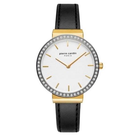 ساعت مچی عقربه ای زنانه کلاسیک برند پیرکاردین مدل PC902352F02
