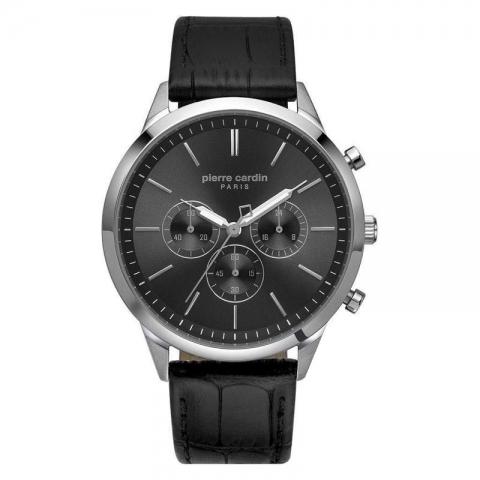 ساعت مچی عقربه ای مردانه کلاسیک برند پیرکاردین مدل PC902361F01