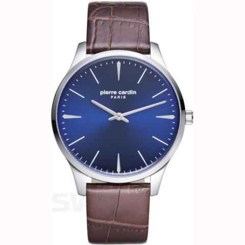 ساعت مچی عقربه ای مردانه کلاسیک برند پیرکاردین مدل PC902271F12