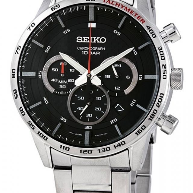 ساعت مچی عقربه ای مردانه کلاسیک برند سیکو مدل SSB355P1