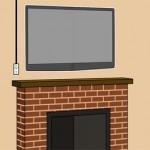 آموزش نصب تلویزیون در بالای شومینه