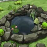 ساخت حوضچه سنگی بدون پمپ