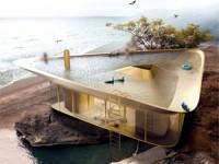 خانه رویایی با سقفی الهام گرفته از برکه