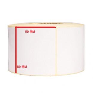 لیبل کاغذی 80*50 رول 1000 عددی