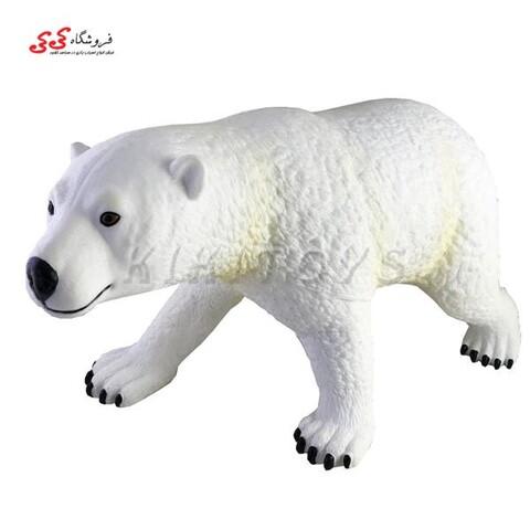 فیگور حیوانات خرس قطبی نرم بزرگ اسباب بازی polar bear figure