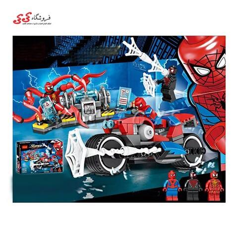 لگو موتور اسپایدرمن و کارنیج BELA 11186 SPIDERMAN