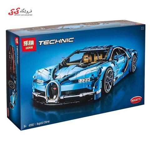 لگو بوگاتی شیرون رنگ آبی لپین LEPIN 20086 Bugatti Chiron