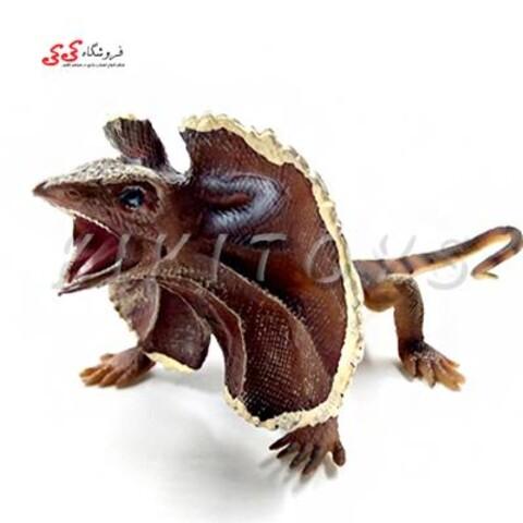 فیگور حیوانات مارمولک خاردار  forest Frilled Lizard Bat figurines