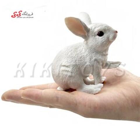 فیگور حیوانات خرگوش Simulation Rabbit White Animal figure