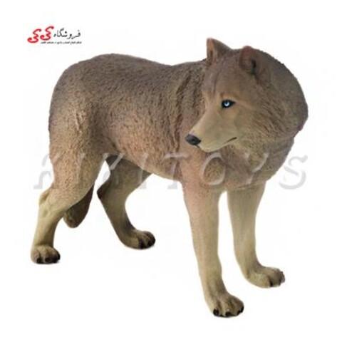 فیگور حیوانات گرگ خاکستری figure of wolf