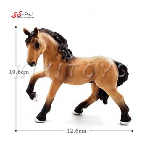 فیگور حیوانات اسب یال مشکی fiqure of horse