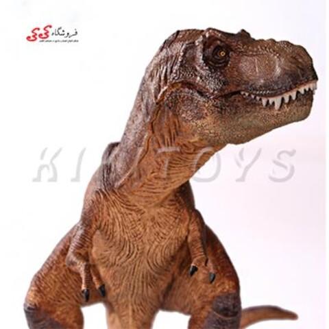 فیگور حیوانات دایناسور تیرکس دم کج قهوه ای  Tyrannosaurus Rex