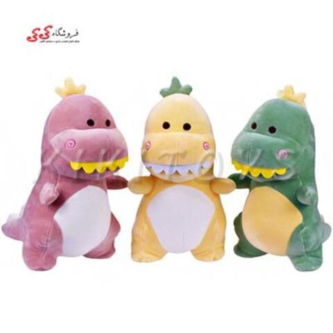 عروسک پولیشی دایناسور بامزه سایز متوسط plush toys
