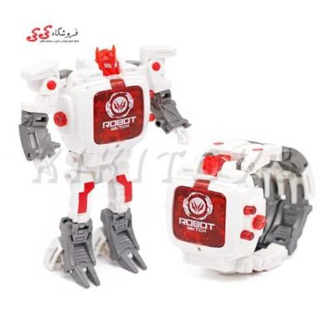 ساعت مچی رباتیک تبدیل شونده سفید Transform Toys Robot Watch