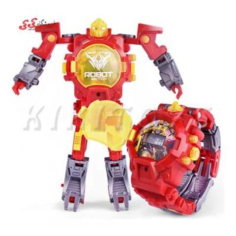 ساعت مچی رباتیک تبدیل شونده قرمز Transform Toys Robot Watch