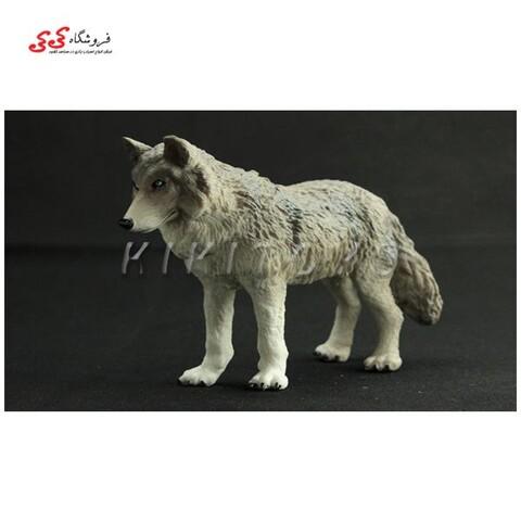 فیگور حیوانات گرگ سایز متوسط fiqure of wolf