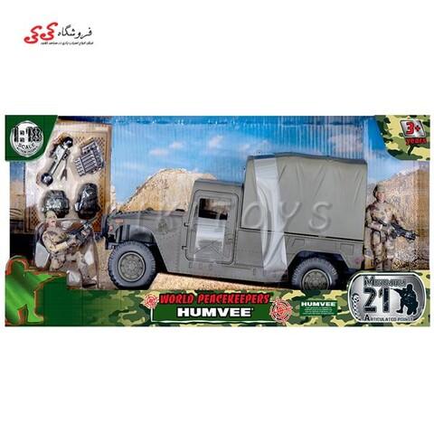 ماکت جیپ نظامی  به چادر سبز برند ام اند سی MILITARY CAMPSITE M C TOY
