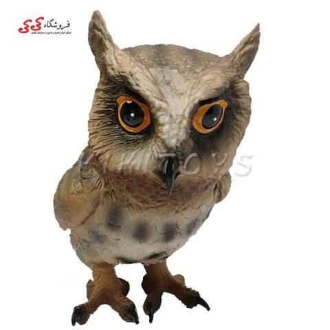 فیگور حیوانات جغد شاخدار بزرگ Flying Owl Animals Figure