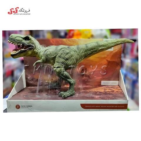 اسباب بازی دایناسور طرح تیرکس گوشتی سبز Tyrannosaurus