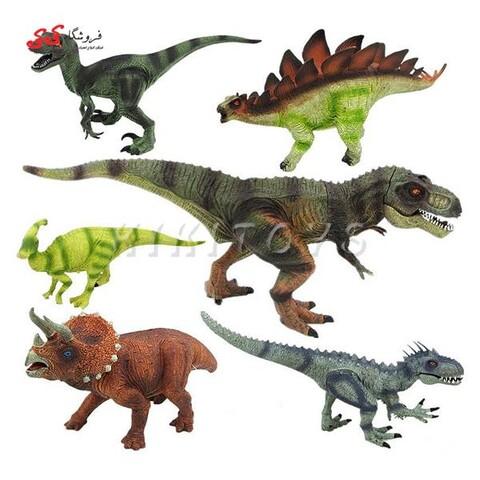 اسباب بازی فیگور دایناسور مدل ژوراسیک موزیکال ست 6 عددی DINOSAUR PLAYS SET