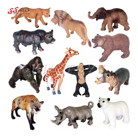 اسباب بازی فیگور حیوانات جنگل کوچک 12 عددی ANIMAL WORLD
