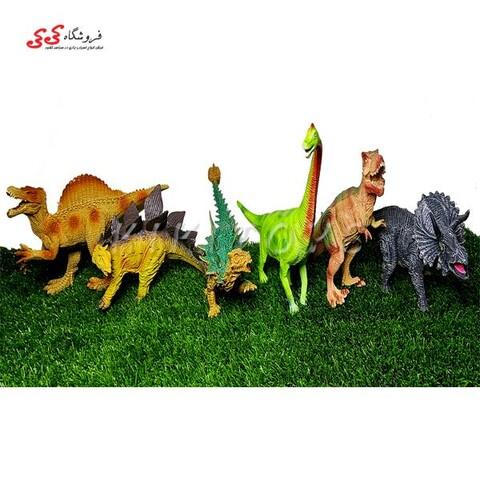اسباب بازی فیگور دایناسور 6 عددی DINOSAUR PLAYS SET