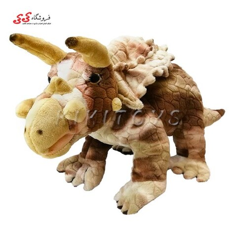 عروسک دایناسور تریسراتوپس مدل پولیشی Triceratops Dinosaur
