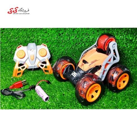 اسباب بازی ماشین دیوانه کنترلی 5 چرخ-STUNT CAR