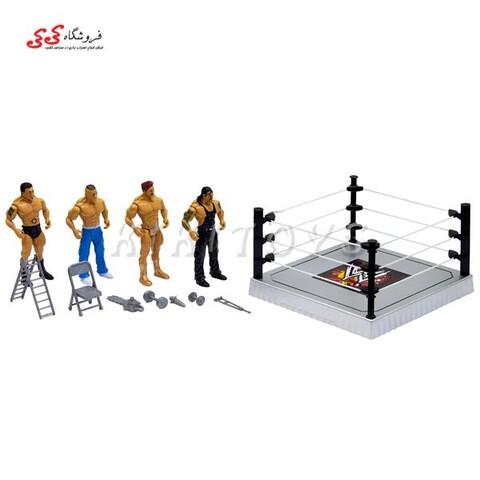 ست اسباب بازی کشتی کج با رینگ و صندلی و نردبان FLEXFORCE