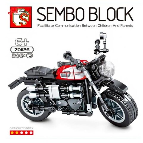 لگو ماکت موتور تریومف Triumph برند اس وای SEMBO BLOCK 701126