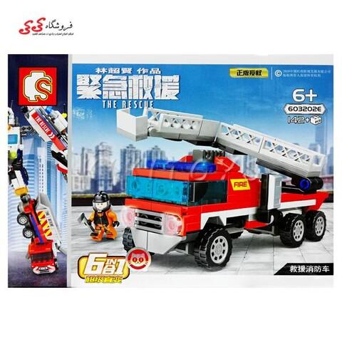 لگو ماشین آتشنشانی تبدیل شونده SEMBO BLOCK 603202