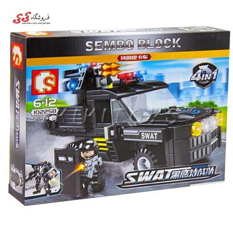 لگو ماشین نیروی ویژه SEMBO BLOCK 102258  Military Lego