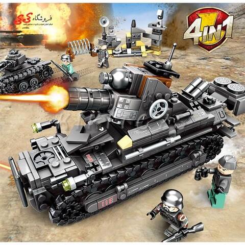 لگو تانک جنگی بزرگ | ست ترکیبی 4 عددی سمبو بلاک| SEMBO BLOCK 101213-101216 |