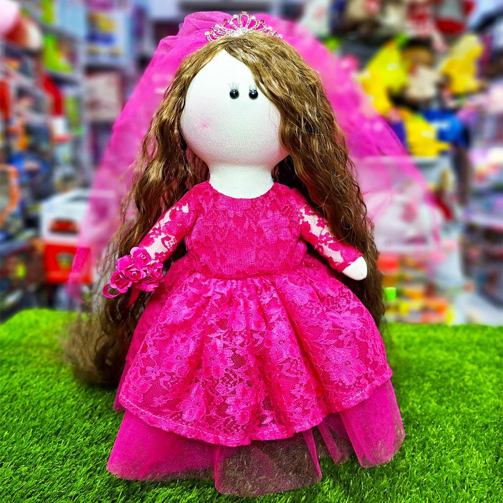 عروسک روسی عروس مدل دست دوز صورتی  کی کی 4 KIKI DOLLS