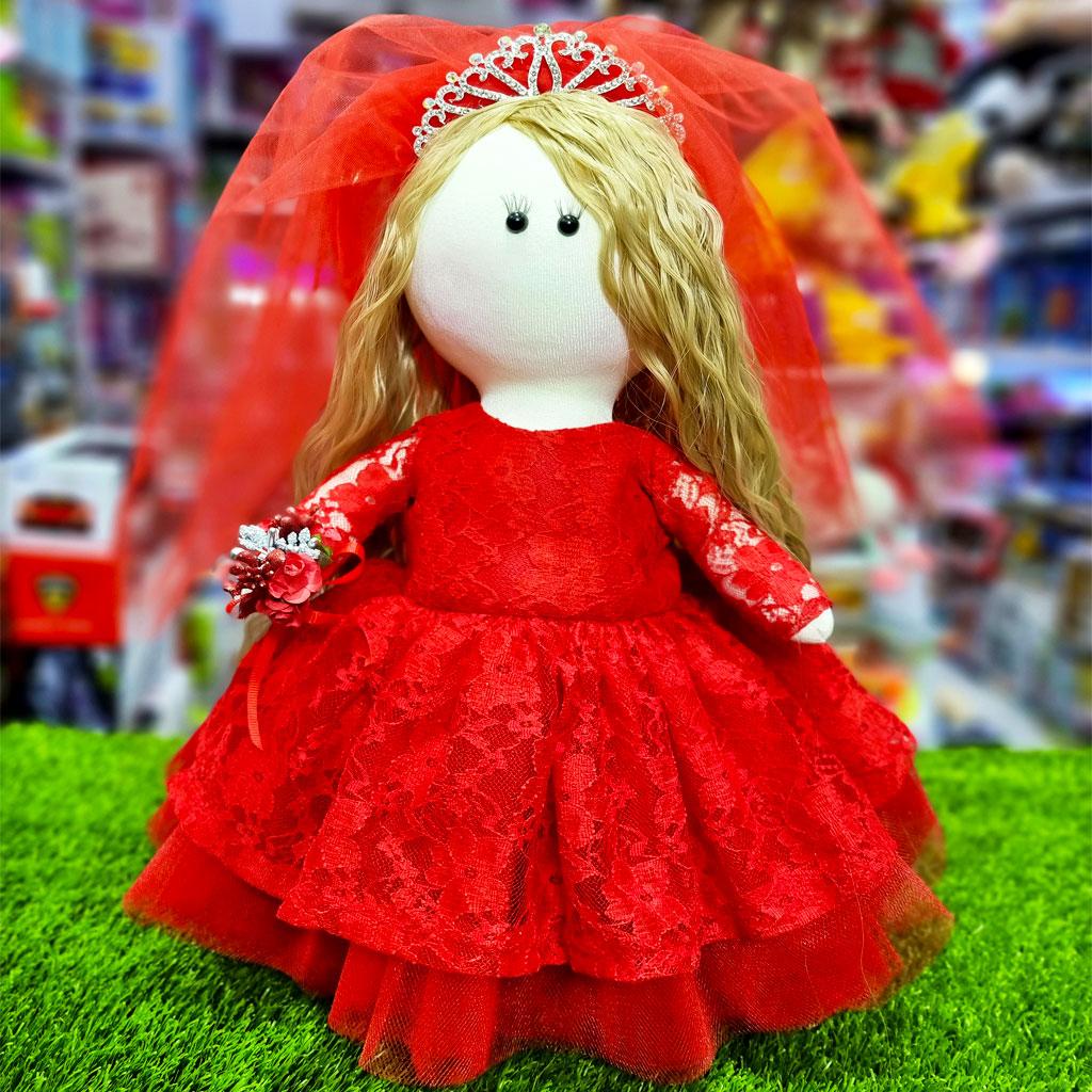 عروسک روسی قرمز عروس دست دوز کی کی 2 KIKI DOLLS