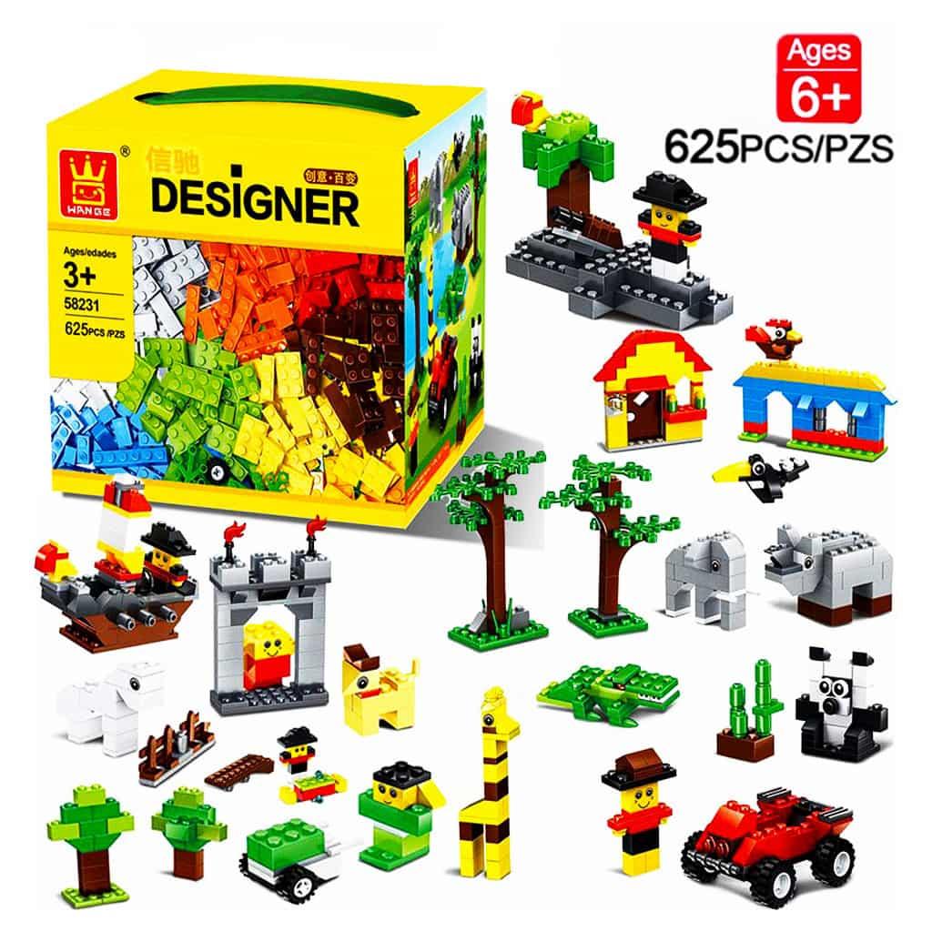 لگو کلاسیک   خانه سازی کودک   WANGE lego Blocks Educational Toys