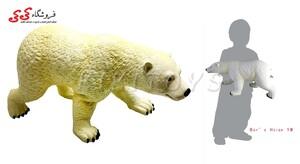 ماکت نرم خرس قطبی بزرگ گوشتی