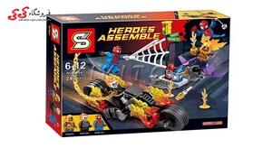 لگو اسپایدرمن و گوست رایدر دکول SY 841 Spiderman Ghost Rider